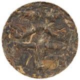 Myanmar Kokang puerh with tea hieroglyph on surface round shape Stock Photography