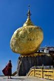 Myanmar Kyaiktiyo Golden Rock. Travel through historical places in Myanmar / Birma royalty free stock photos