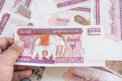 Myanmar kyat banknote Stock Photo