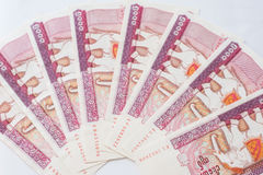 Myanmar kyat banknote Royalty Free Stock Photo
