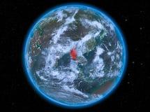 Myanmar la nuit sur terre Images stock
