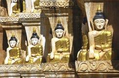 Myanmar, lago Inle: Imagens de Buddha Foto de Stock Royalty Free