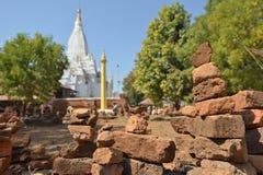 Laymyethna white temple Bagan royalty free stock photos