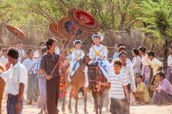 Myanmar liv Arkivfoto