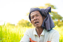 Myanmar man Stock Photo