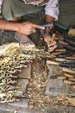 Myanmar, Mandalay: handicraft Royalty Free Stock Photo