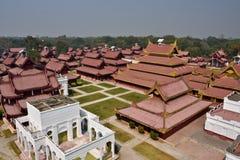 Myanmar Mandalay Royal Palace. Travel through historical places in Myanmar / Birma royalty free stock images