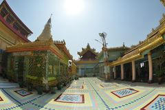 Mandalay Soon U Ponya Shin Pagoda. Myanmar Mandalay Soon U Ponya Shin Pagoda royalty free stock photography