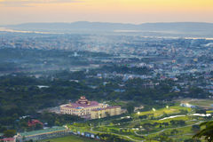 Myanmar mandalay sunset Royalty Free Stock Images
