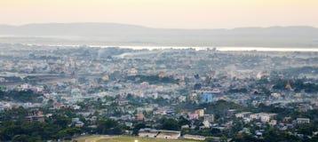 Myanmar mandalay sunset Stock Photo