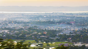 Myanmar mandalay sunset Stock Images