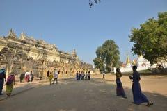 Myanmar Mandalay Yadana Hsemee pagoda complex royalty free stock photo