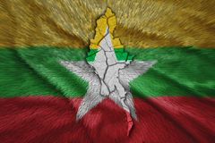Myanmar Map. Map of Myanmar in National flag colors Stock Image