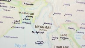 Myanmar on a Map