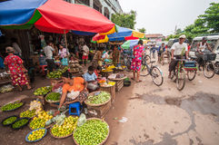 Myanmar market Royalty Free Stock Images