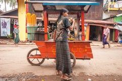 Myanmar market Royalty Free Stock Photos