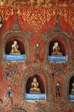 Myanmar, Meer Inle: Het klooster van Yan Pyay van Shwe Stock Afbeeldingen