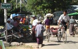 Myanmar mensen royalty-vrije stock foto