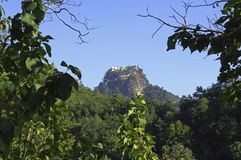 Myanmar, mount popa or popa hill Royalty Free Stock Photo
