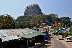 Myanmar Mount Popa. Travel through historical places in Myanmar / Birma stock photos
