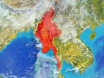 Myanmar na ziemi od przestrzeni ilustracji