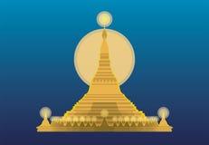 Myanmar noc Fotografia Royalty Free