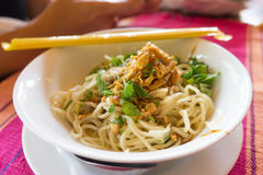 Myanmar Noodle. Style yunnan noodle Royalty Free Stock Photo