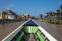 MYANMAR - OCT 15: Trishaw operators ferry locals from market Royalty Free Stock Photo