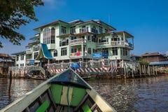 MYANMAR - OCT 15: Trishaw operators ferry locals from market Stock Photo