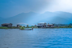 Myanmar - October 15: Burmese daily boat trips from January 15, Royalty Free Stock Image