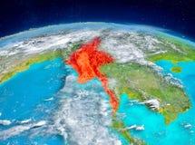 Myanmar på jord Arkivbild