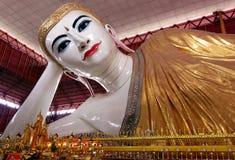 Myanmar pagod buddha, yangon, myanmar Arkivbilder