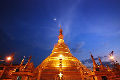 Myanmar pagoda. On twilight time Royalty Free Stock Photography