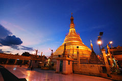 Myanmar pagoda. On twilight time Stock Photography