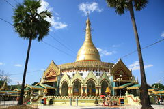 Myanmar pagoda in Yangon royalty free stock photography