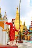 myanmar pagodashwedagon yangon Arkivfoto