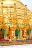 myanmar pagodashwedagon yangon Arkivbild