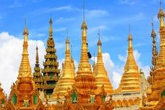 myanmar pagodashwedagon yangon Royaltyfri Fotografi