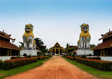 Myanmar Palace in historical park Stock Photo