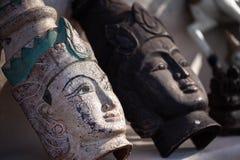 Myanmar pamiątka, tradycyjna maska w Myanmar Zdjęcia Stock