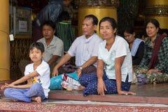 Myanmar people Stock Images