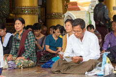 Myanmar people Royalty Free Stock Photography