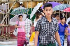 Myanmar people Royalty Free Stock Images