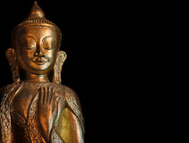 Myanmar, Pindaya: 8000 buddha's cave. Typical Buddha with smiling face Royalty Free Stock Photo