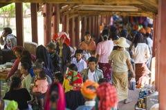 Myanmar - Pindaya-holfestival stock fotografie