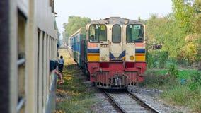 Myanmar pociąg zdjęcia royalty free