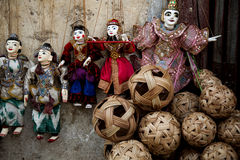 Myanmar Puppet market Stock Photo