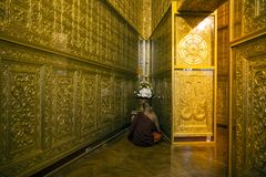 Myanmar - Rangún - pagoda de Botahtaung fotos de archivo libres de regalías