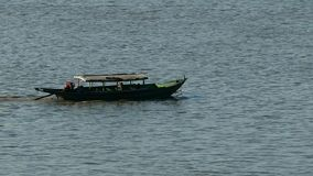 Myanmar river boat. Scene from Bagan Myanmar South East Asia river boats stock footage