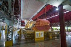Myanmar s som vilar Buddha Fotografering för Bildbyråer